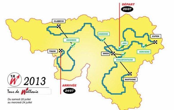 Le Tour de Wallonie 2013 s'élance aujourd'hui d'Ans...