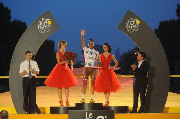 Tour de France 2013 : les classements : Nairo Quintana (Meilleur grimpeur), Peter Sagan (Meilleur sprinteur), Nairo Quintana (Meilleur jeune), Christophe Riblon (Plus combatif), Team Saxo-Tinkoff (Meilleure équipe)