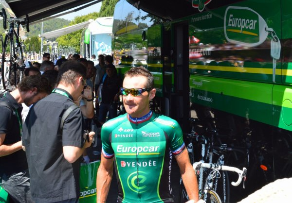 Tour de France 2013 (Photos du départ Vaison-la-Romaine) : Thomas Voeckler (Europcar)