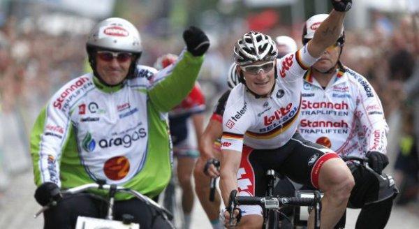 Critérium d'Anvers 2013 : André Greipel vainqueur devant Devolder