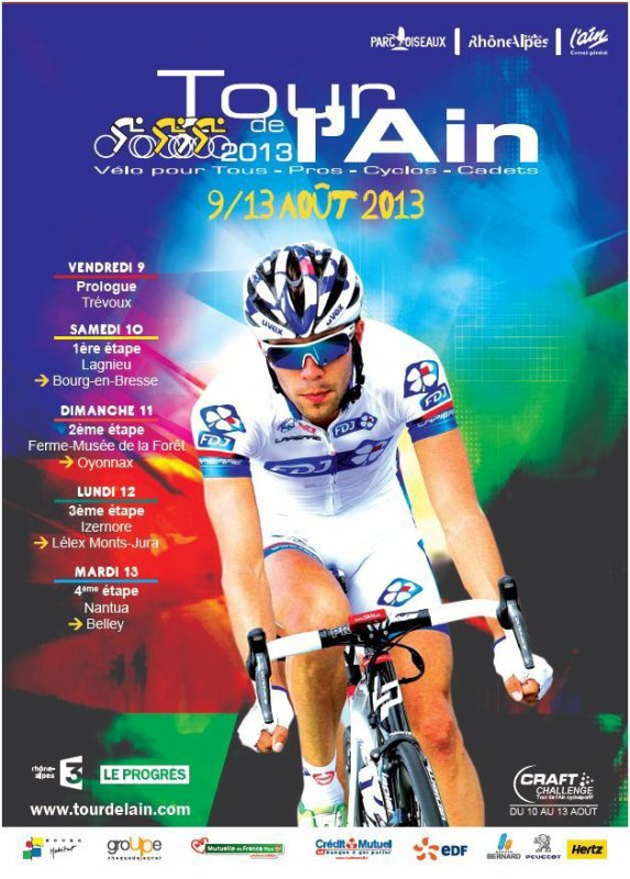 Affiche Officielle Tour de l'Ain 2013