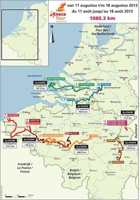 Parcours Eneco Tour 2013