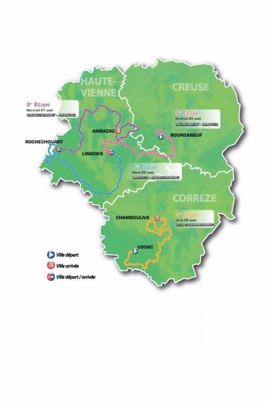 Parcours Tour du Limousin 2013