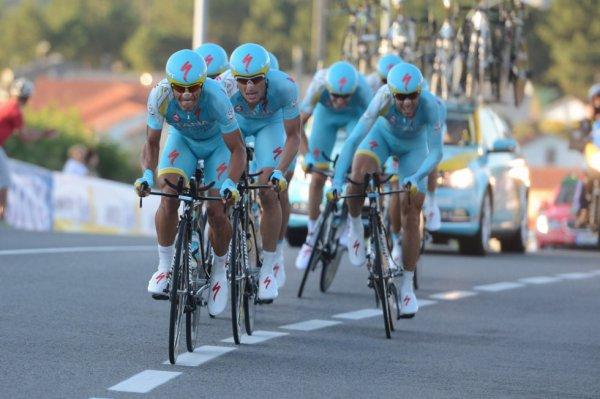 Tour d'Espagne 2013 (1ere étape CLM par équipes) : Astana remporte l'étape, Brajkovic premier leader...