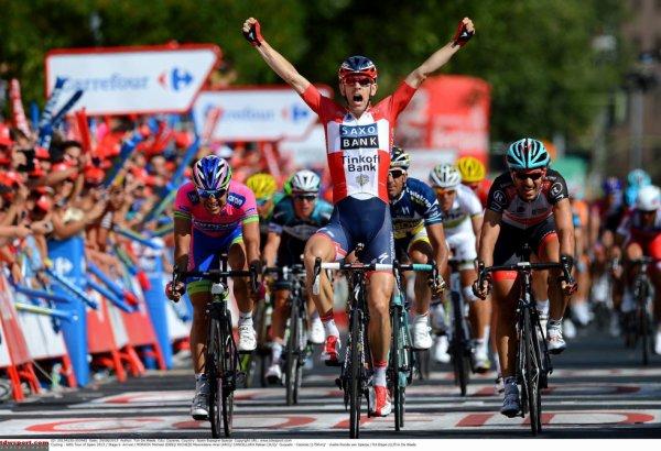 Tour d'Espagne 2013 (6eme étape) : Michael Morkov gagne au sprint, Tony Martin rattrapé juste avant la ligne après une échappée de ...175 kilomètres