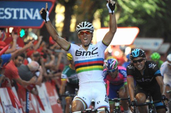 Tour d'Espagne 2013 (12eme étape) : Philippe Gilbert bat Boasson Hagen et gagne sa 1ere victoire de la saison...