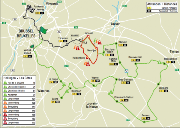 Parcours Brussels Cycling Classic 2013