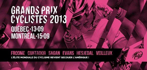 Affiche Grand Prix Cycliste de Québec 2013