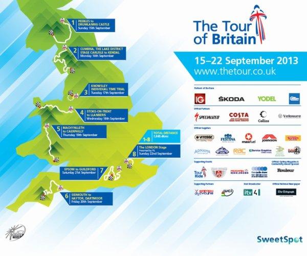 Affiche Officielle Tour de Grande Bretagne 2013