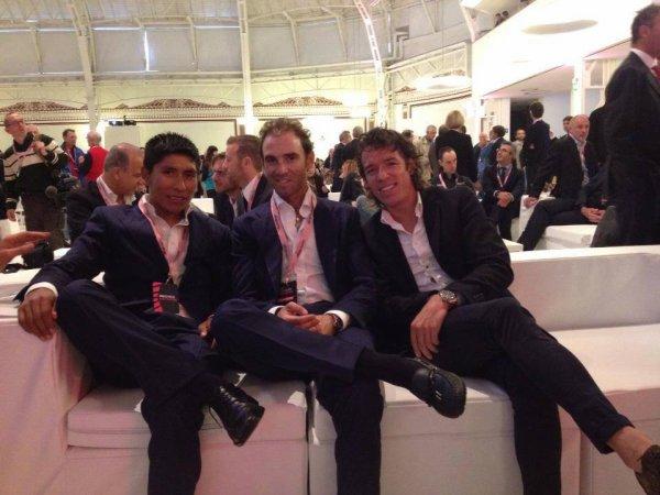 Présentation du Tour d'Italie 2014 : Nairo Quintana, Alejandro Valverde et Rigoberto Uran