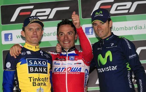 Podium Tour de Lombardie 2013 : Rodriguez, Valverde et Majka