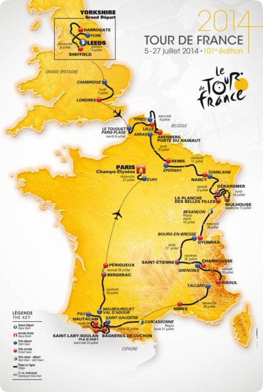 Les Chiffres du Tour de France 2014
