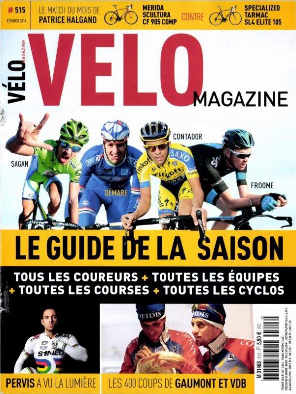 Couverture Velo Magazine Fevrier 2014