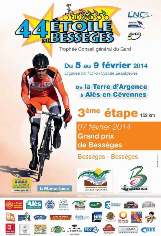 Etoile de Bessèges 2014 (3eme étape) : Affiche officielle Grand Prix de Bessèges