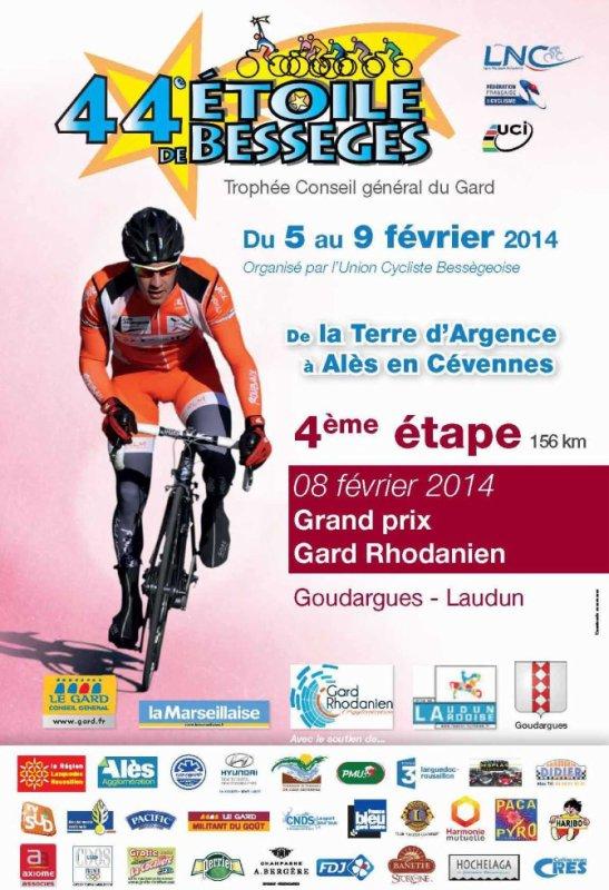 Etoile de Bessèges 2014  : Affiche 4eme étape Goudargues / Laudun