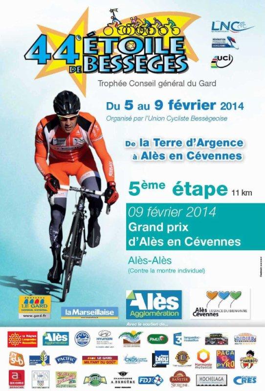 Etoile de Bessèges 2014  : Affiche Officielle 5eme étape (Grand Prix d'Alès-en-Cévennes)