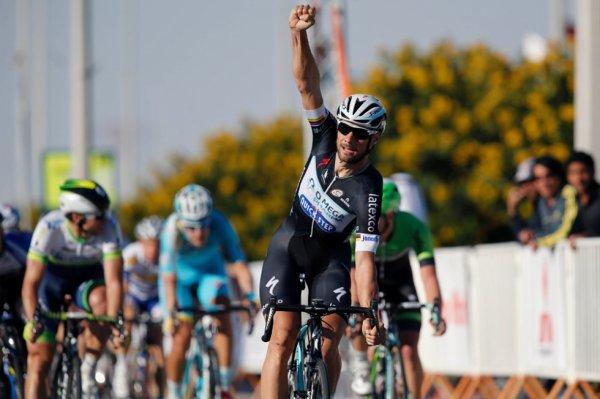 Tour du Qatar 2014 (4eme étape) : Tom Boonen à toute allure...