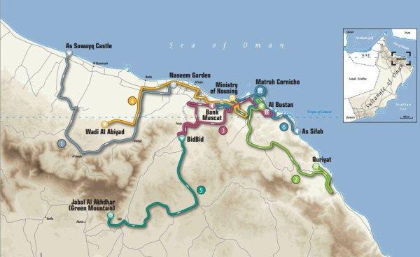 Parcours Tour d'Oman 2014