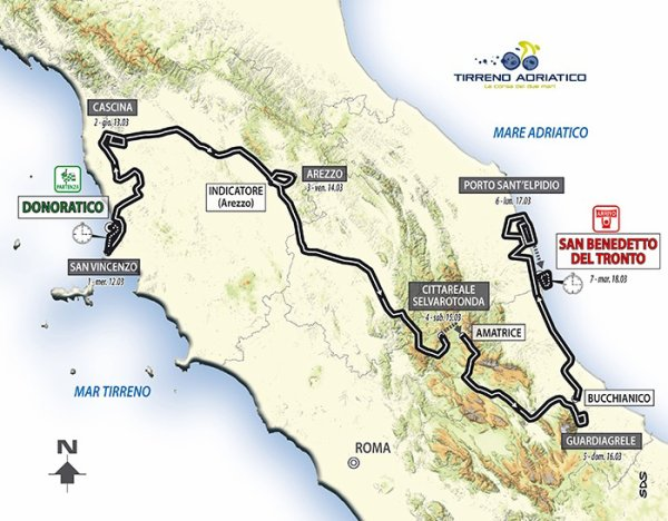 Parcours Tirreno-Adriatico 2014