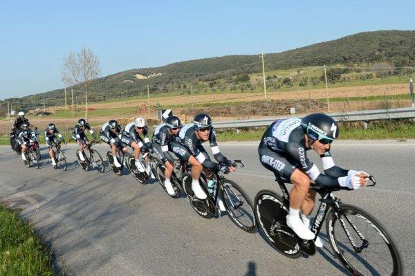 Tirreno-Adriatico 2014 (1ere étape CLM) : Victoire d'Omega Pharma, Cavendish premier leader