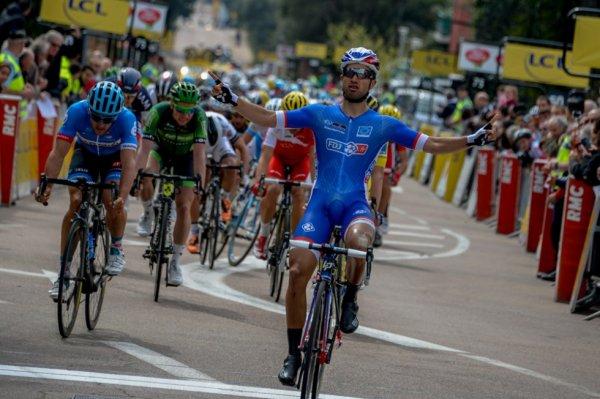 Critérium International 2014 (1ere étape A) : Nacer Bouhanni fait parler sa pointe de vitesse en Corse