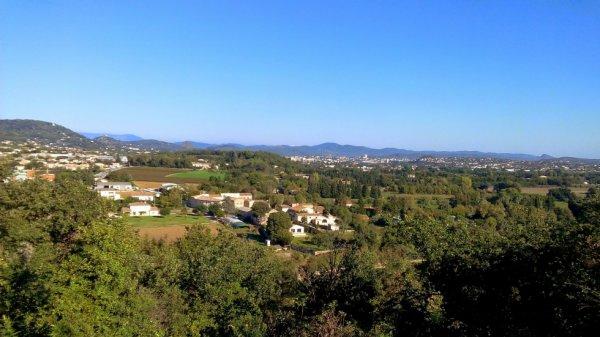 Vue sur les Cévennes depuis la colline de Montmoirac
