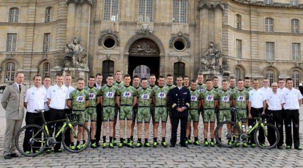 Présentation de l'équipe cycliste Armée de Terre 2015 (D3)