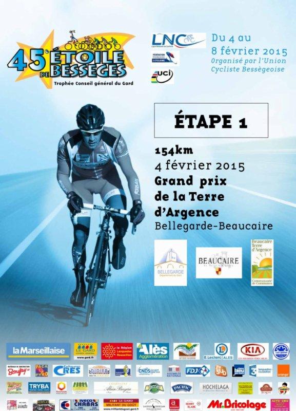 Etoile de Bessèges 2015 : 1ere étape Grand Prix de la Terre d'Argence (Bellegarde / Beaucaire) 154 km