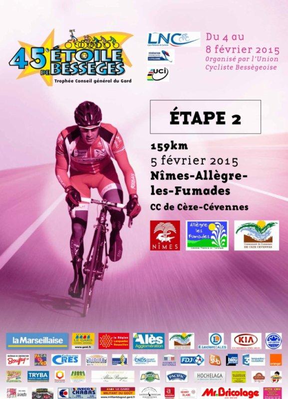 Etoile de de Bessèges 2015 2eme étape (Nîmes / Fumades) 157 km