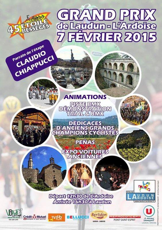 Affiche officielle Grand Prix de Laudun-L'Ardoise 2015