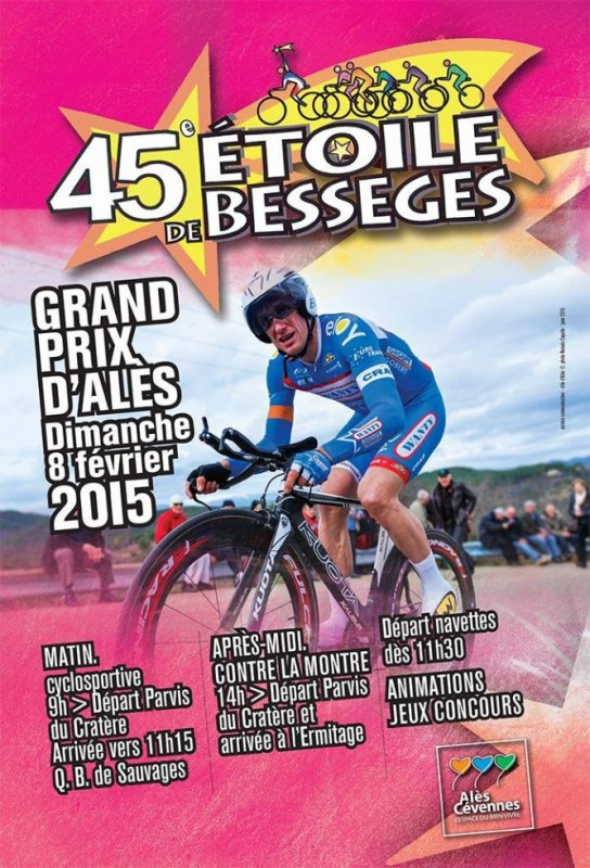 Affiche Grand Prix d'Alès en Cévennes Etoile de Bessèges 2015