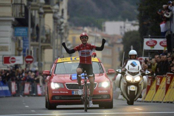 Paris-Nice 2015 : superbe victoire de Tony Gallopin qui s'impose en costaud dans l'étape de Nice et en passe de remporter l'épreuve...