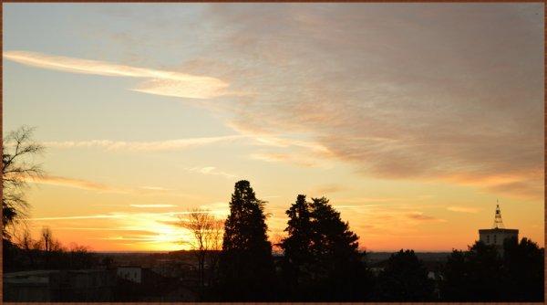 Lever du soleil sur Alès