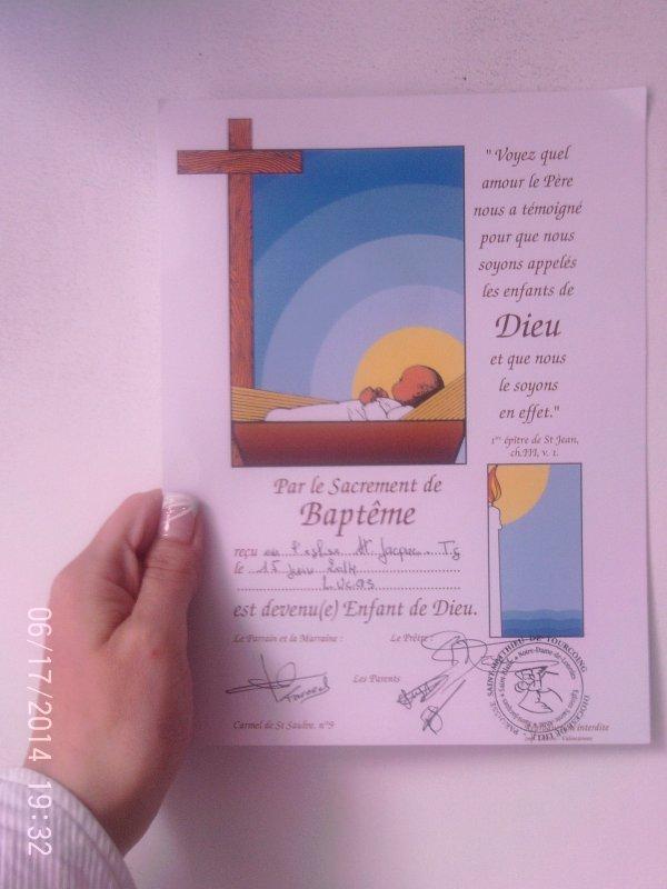 le baptême de lucas