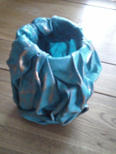 vase en powertex + pigments de chez kippers creatif