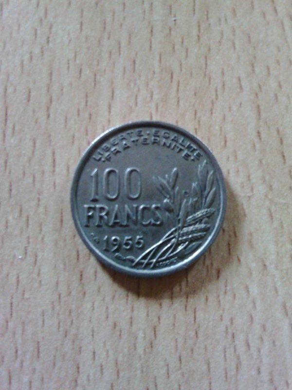100 franc 1955