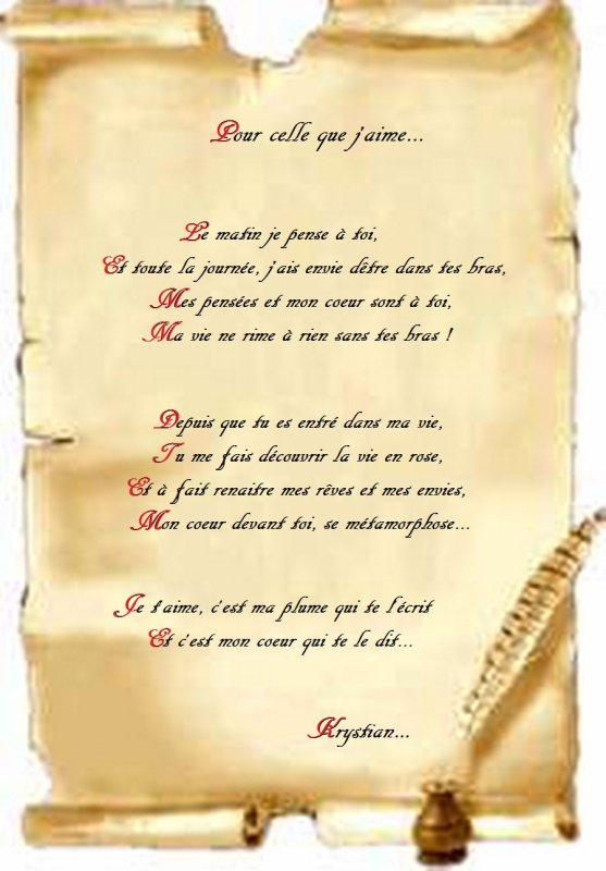 """- - - - - - - - - - """"POÊME"""" pour GAËLLE"""" - - - - - - - -"""