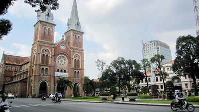 Cathedral Notre-Dame in Ho Chi minh city