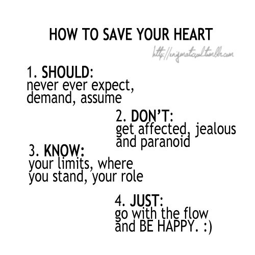 How To Save Your Heart...