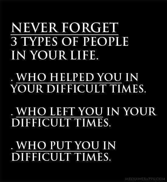 Never Forget 3 Types Of People In Your Life...