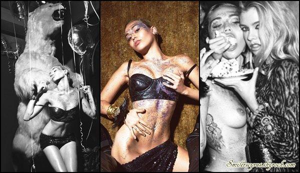 Miley a fait un photoshoot pour W Magazine.