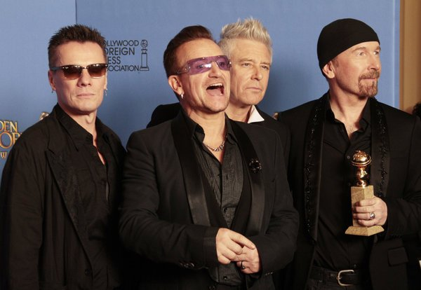 U2//GOLDEN//GLOBES//2014