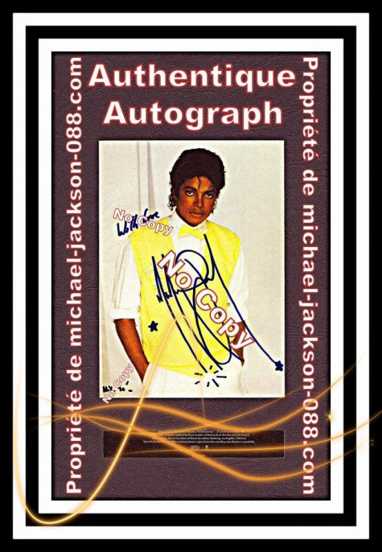 Autographe New-York 1990 :