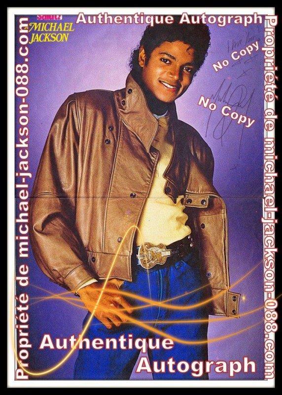 """Autographe Paris 1985 + """" I Love You """" ."""