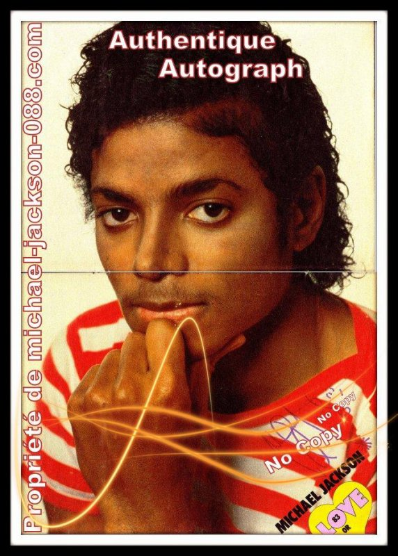 """Autographe paris 1985 + """" Paris 85  """" ."""