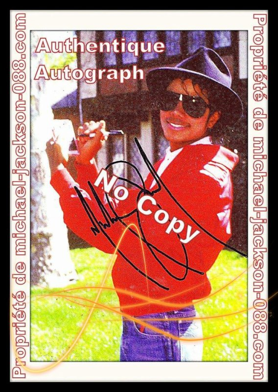Autographe sur Photo à Neverland .