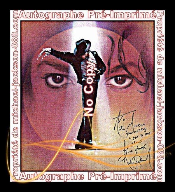 Grande Carte-Postale Opus de la reproduction de la Peinture de Nate Giorgio dédicacé par Michael Jackson