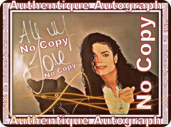 Autographe de Michael Jackson 26 Juin 1992 :