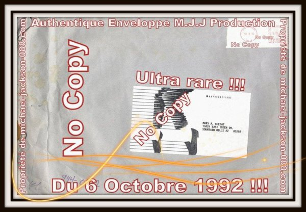Authentiques Autographes dédicacés par Michael Jackson sur lettre M.J.J Production en 1992 !!! Ultra Rare !!!