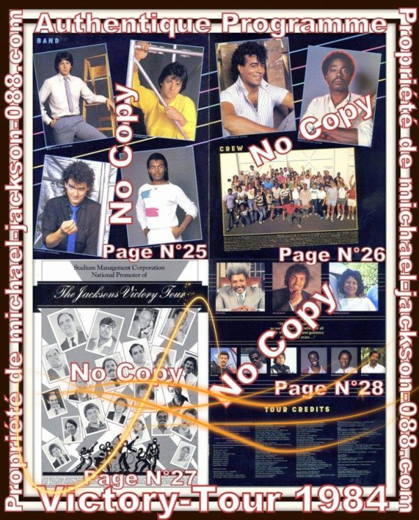Authentique Programme du Victory-Tour datant de 1984 !!!